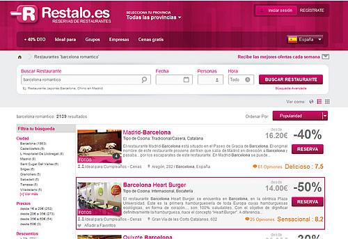 Restaurante barcelona romántico